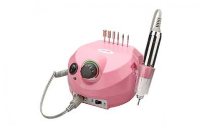 Belle 30,000RPM Nail Drill Machine Electric Nail File Manicure Pedicure Drill for Acrylic Nails (Pink, 110V)