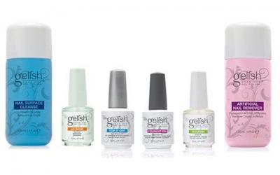 NEW Gelish Full Size Gel Nail Polish Basix Care Kit