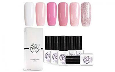 Gel Nail Polish for Nails, Soak Off UV Pink Gel Kit